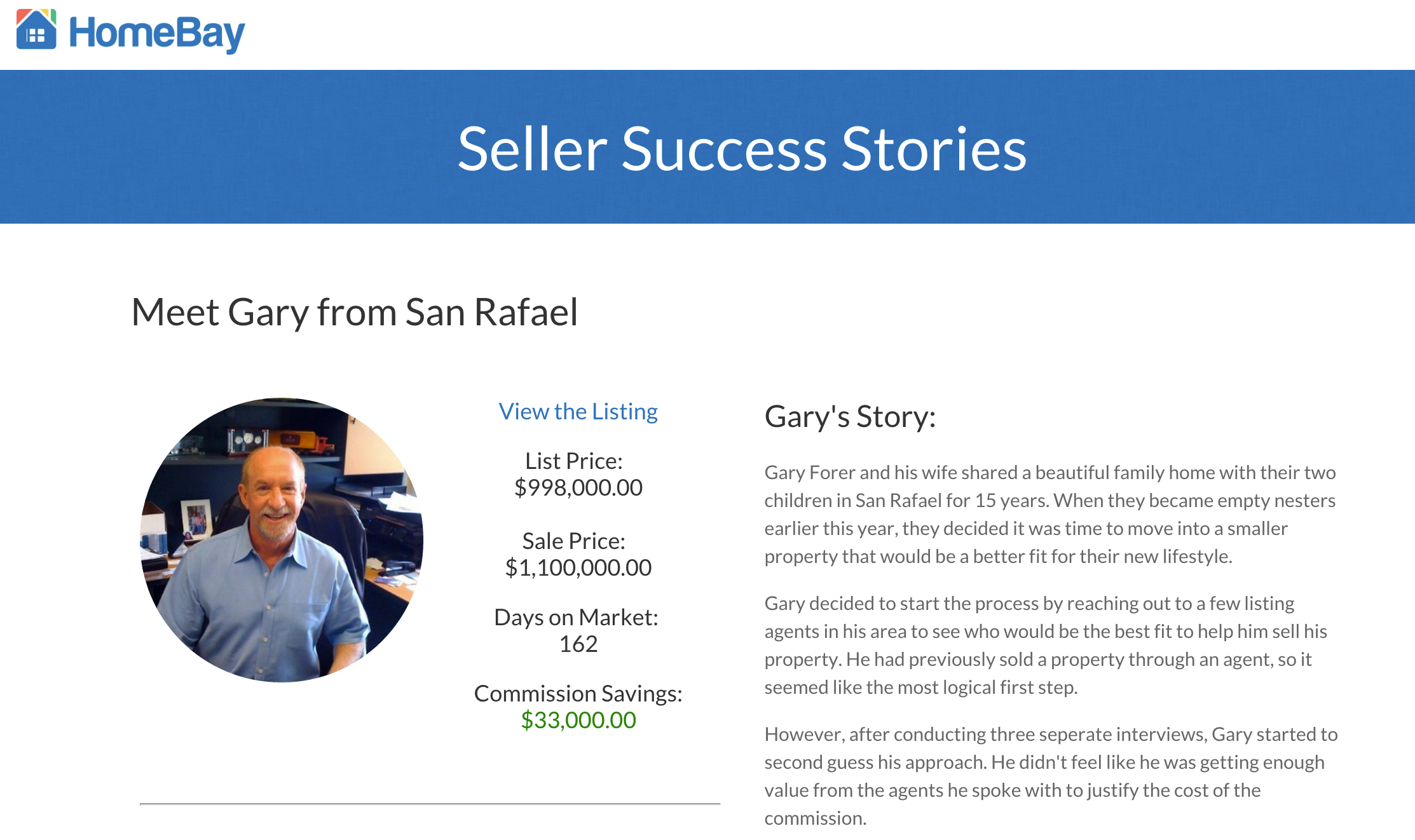 California home sale success story