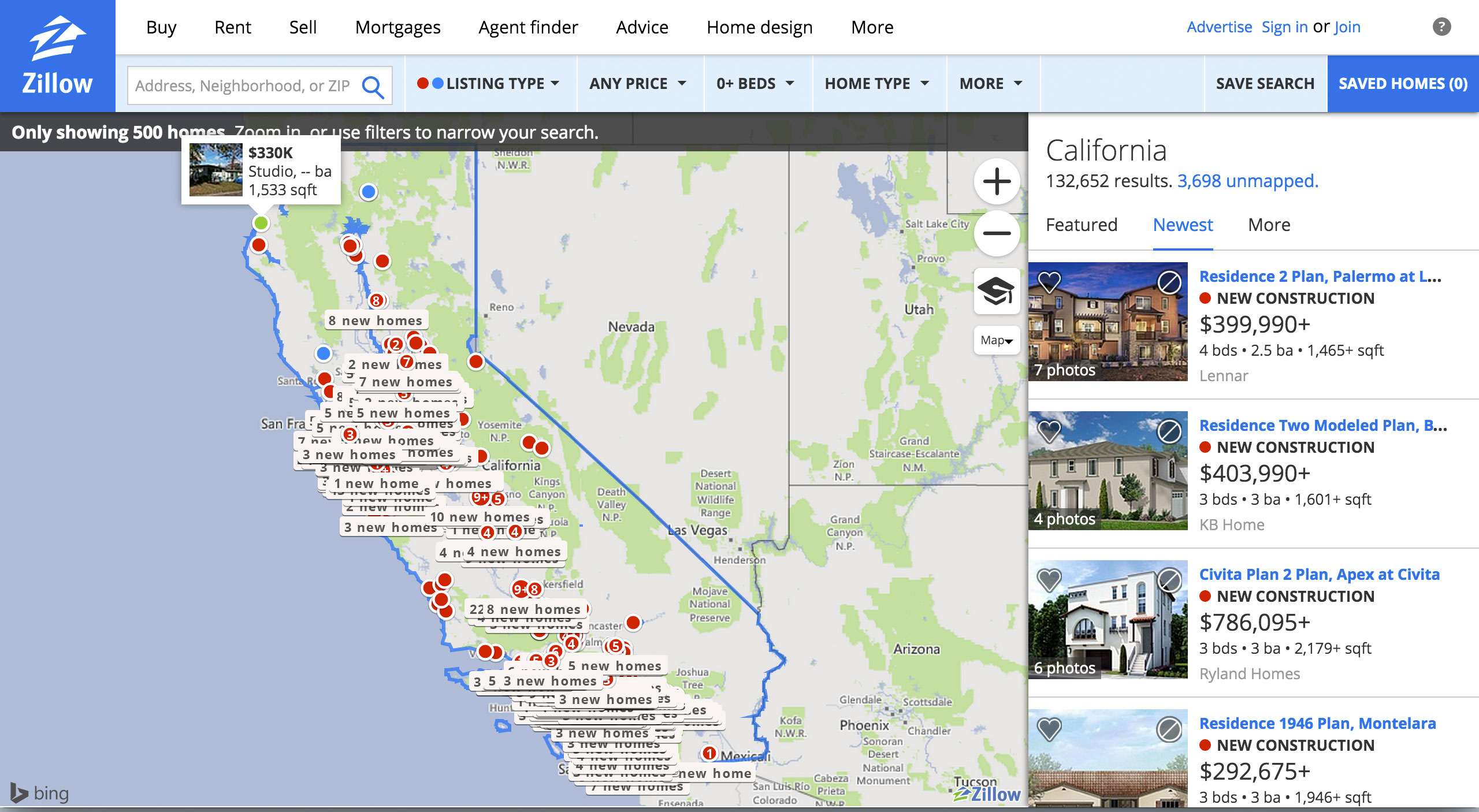Zillow Make Me Move Tool - Map