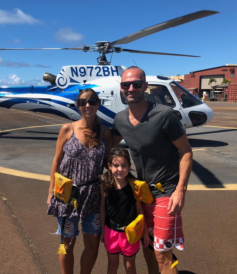 Home Bay's Ryan Prazen with Family