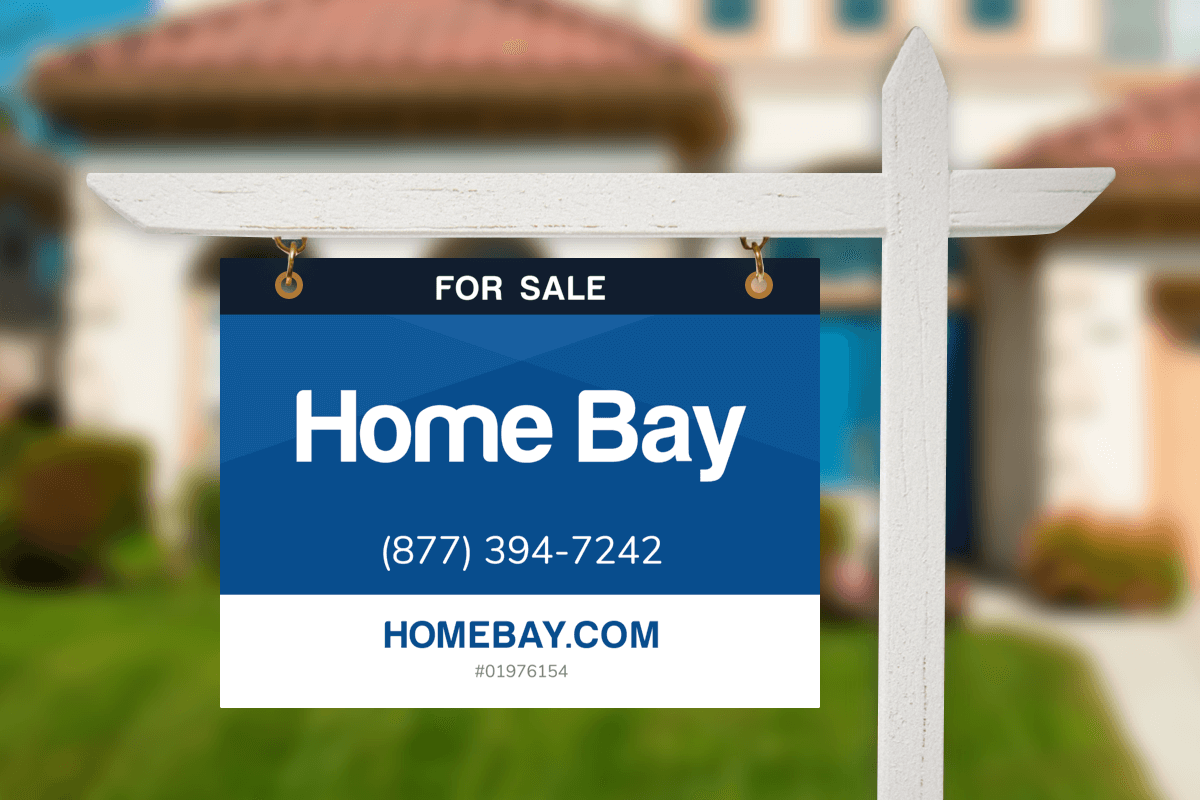 Home Bay's California yard sign