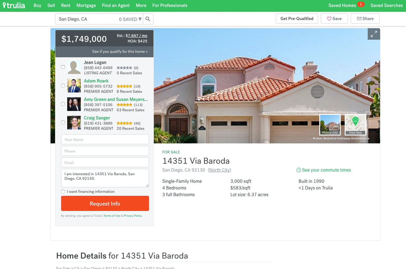Real estate agents on Trulia