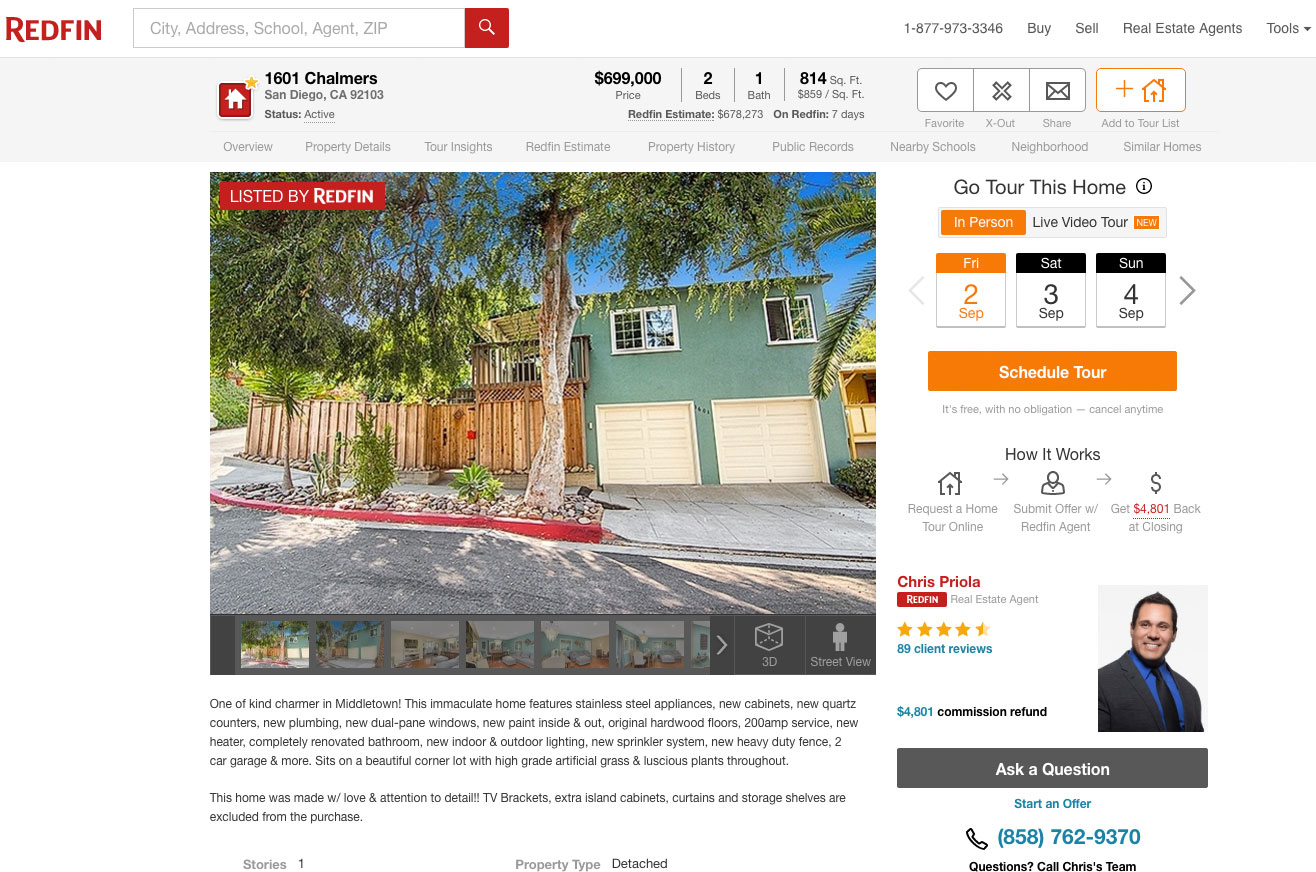Real estate agents on Redfin